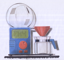 Coffee maker product drawing by Mawk-G
