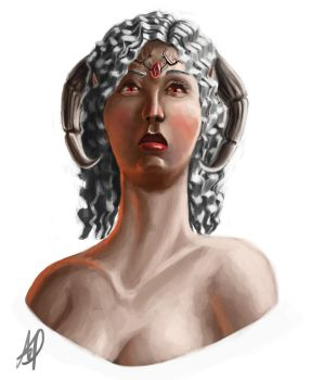 Character Bust - Tissa by sequentialnerd