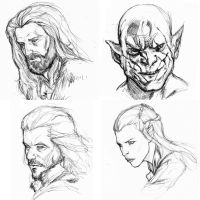 Hobbit sketches by Arciah