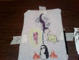 new shirt design for my lil' sis.. by MommaCabbit