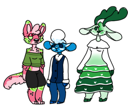 Food themed Anthro adopts  (1/3 open) by Sweetnfluffy-adopts