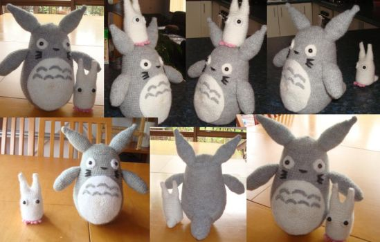 Crochet Totoro: Grey and White by Morethantoday