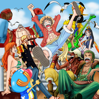 ONE PIECE 17th ANNIVERSARY COLORING COLLAB by AnnaHiwatari