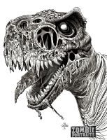 T Rex Zombie Close Up by Originalzombie