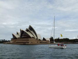 Sailed Opera House vs Sail(less) Boat by BrendanR85