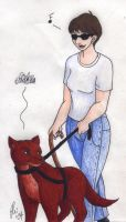 Seeing Eye Dog by rachelillustrates