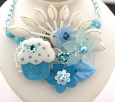 Creamy Cuppycake Necklace by AndyGlamasaurus