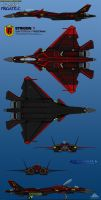 Su-53SM Frigate C 6-View Strigon 1 by haryopanji