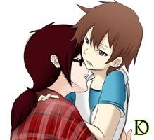 Keiji And Natsume by ThyNyxius