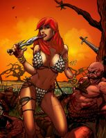 Red Sonja: She digs the blade by TV-TonyVargas
