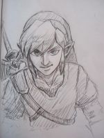 Skyward Sword Link Sketch by JereduLevenin