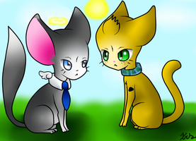 Destiel kittens by deathdiva54268