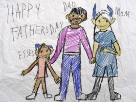 Father's Day picture from a child from the past by A0IISA