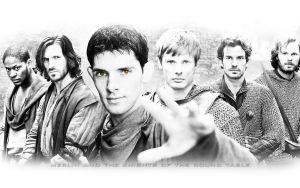 Merlin and the knights by Nikky81