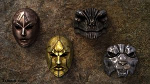 Tribunal masks by Zairaam