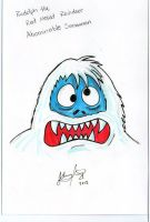 The Abominable Snowman Christmas Card by johnnyism