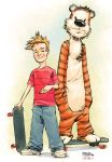 Calvin and Hobbes by jusdog by JohnRauch