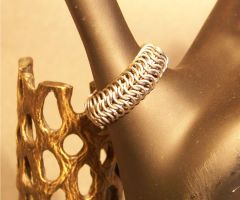 Titanium Chainmaille Ring by hightowerchains