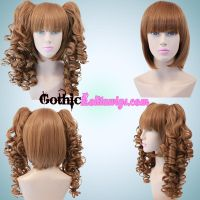 Curly Light Brown by GothicLolitaWigs
