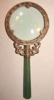 Silver Jade Magnifying Glass by FantasyStock