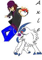 Axle and Absol by icedragon1992