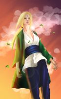 Naruto : Tsunade_The wind is stronger by MimiSempai