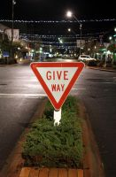 GIVE WAY by JurassicJulianna