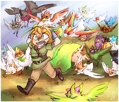 Chicken Attack by xMits