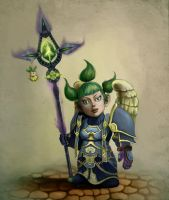 World of Warcraft-Gnome Priest by MeWannaLearn
