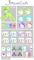 !!Outdated!!-Jewelists- Species guide by katze-des-grauens