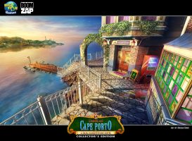 Death at Cape Porto: Dockside Cafe by Wolfie-chama