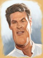David Hasselhoff by markdraws