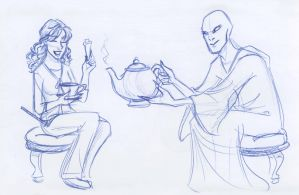 Voldemort Serves the Tea by kuabci