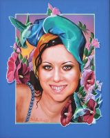 Commissioned Portrait of a young lady by Italia-Ruotolo-Art