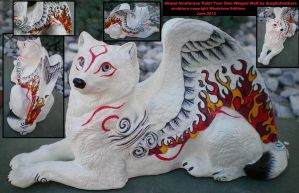 Okami Amaterasu Winged Wolf PYO by drag0nfeathers