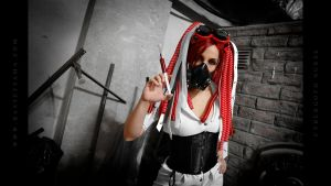 Cybergoth Nurse Costume 05 by Bastetsama-Cosplay