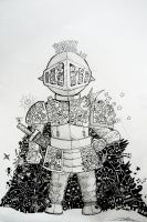 knight in doodle armorer by pe-2