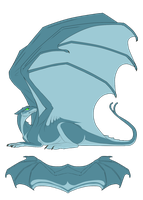 Blue Pernese Dragon Auction by mistywren