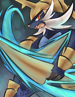 Samurott Used Razor Shell by ClefdeSoll