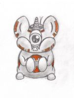 One Eye Mike Wazowski Hamster Pony (BB-8 ponyfied) by vaser888