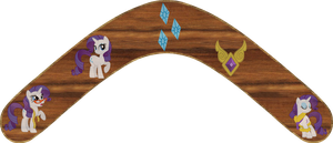 Rarity Boomerang by Out-Buck-Pony