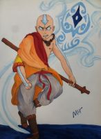 Aang and Raava by boxofplagues