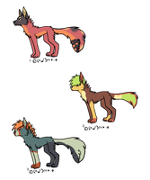 Mawtailed Wolf Adopts - Adopted by Feralx1