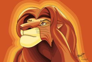 Simba From The Lion King by The-Element2