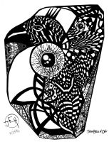 Abstract- Three birds in One by Midniteoil-Burning