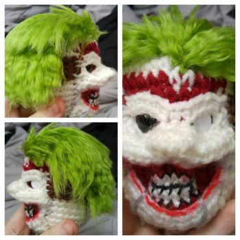 Prototype New 52 Joker Amigurumi by TheaterCrocheter