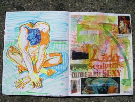 Sketchbook Spread Visual Journal by archambers