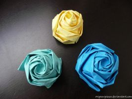 Origami Rose by OrigamiPieces