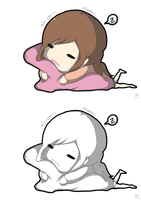 SNSD - Sleeping Sica by Kle95