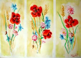 Wildflowers watercollor by BettyNobs